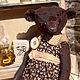 """Мишки Тедди ручной работы. Ярмарка Мастеров - ручная работа. Купить """"Брауни"""" чердачная мишка. Handmade. Коричневый, брошка, ооак"""