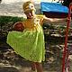 Одежда для девочек, ручной работы. Ярмарка Мастеров - ручная работа. Купить вязаное платье и шапочка, ажурное платье, ажурный комплект для девочки. Handmade.