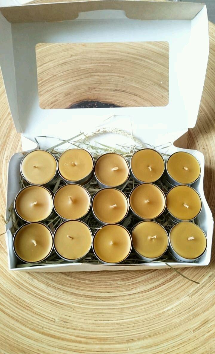 Набор 30 чайных свечей из пчелиного воска, Свечи, Санкт-Петербург,  Фото №1