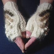 Аксессуары handmade. Livemaster - original item Women`s fingerless gloves Play with wool. Handmade.