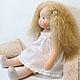 Вальдорфская игрушка ручной работы. Ярмарка Мастеров - ручная работа. Купить Куколка для Ирины, 42 см. Handmade. Бирюзовый, кукла