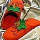 Обувь ручной работы. Заказать Валяные тапочки Виноградная лоза. Оксана Балабась (WoolPastila). Ярмарка Мастеров. Натуральная кожа