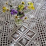 Для дома и интерьера handmade. Livemaster - original item Knitted tablecloth rectangular. Handmade.