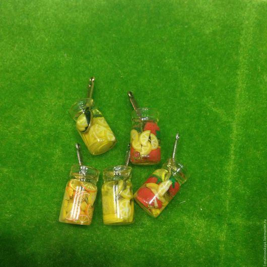 Куклы и игрушки ручной работы. Ярмарка Мастеров - ручная работа. Купить Миниатюрная баночка с вареньем. Handmade. Лимонный