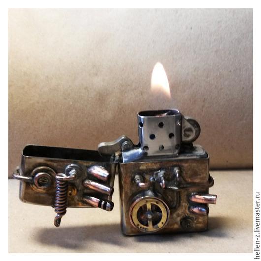 """Стимпанк ручной работы. Ярмарка Мастеров - ручная работа. Купить Зажигалка Zippo """"Thermal-Kraftwerk"""" в стиле СТИМПАНК. Handmade. Зажигалка"""