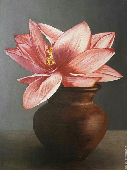 Картины цветов ручной работы. Ярмарка Мастеров - ручная работа. Купить Цветок Будды.. Handmade. Счастье, символ, первозданный, буддизм