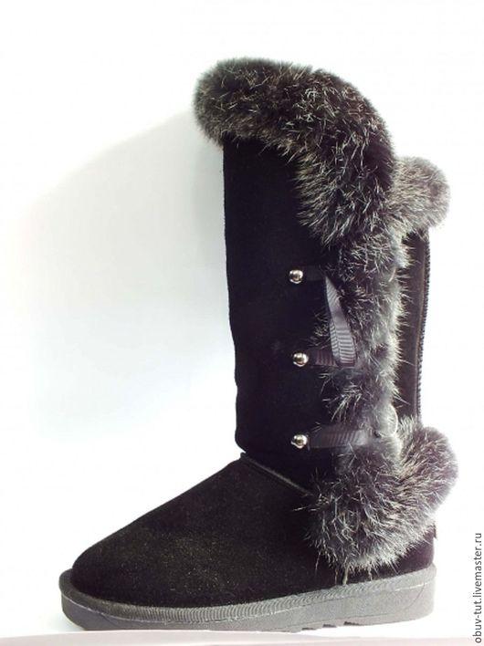 Обувь ручной работы. Ярмарка Мастеров - ручная работа. Купить Угги замшевые серые 35,36,37,38,39,40,41. Handmade.