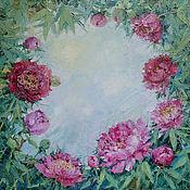 """Картины и панно ручной работы. Ярмарка Мастеров - ручная работа картина """"Небо в пионах"""". Handmade."""