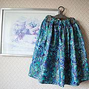 """Одежда ручной работы. Ярмарка Мастеров - ручная работа Юбка """"Синие бабочки"""". Handmade."""