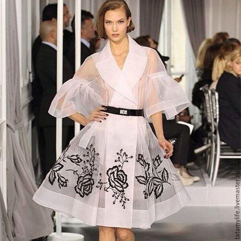 Фото платья из органзы