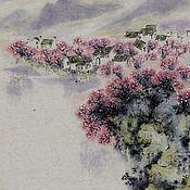 Картины и панно ручной работы. Ярмарка Мастеров - ручная работа картина Там где цветет мейхуа(китайская живопись стильный интерьер). Handmade.