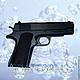 Силиконовая форма для мыла `Пистолет -5`  (2D и 3D)