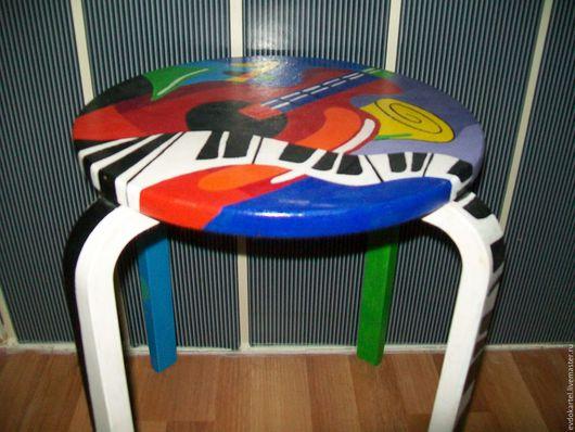 Мебель ручной работы. Ярмарка Мастеров - ручная работа. Купить ТАБУРЕТКА С РОСПИСЬЮ. Handmade. Комбинированный, мебель на заказ, интерьер