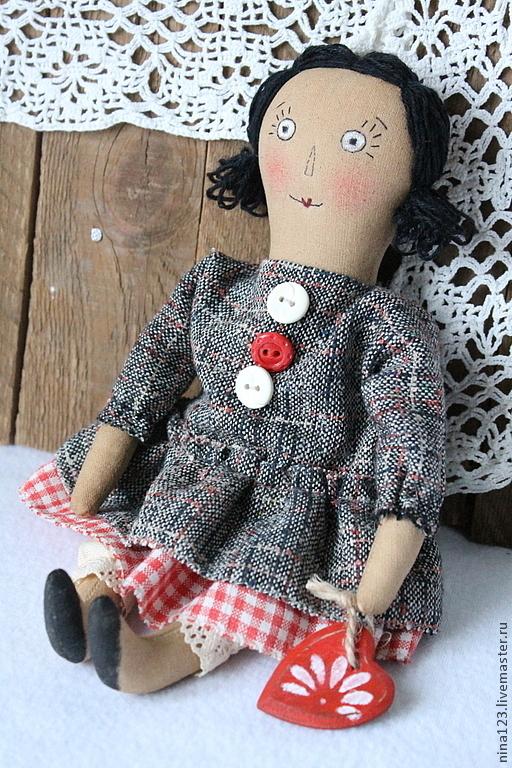 Ароматизированные куклы ручной работы. Ярмарка Мастеров - ручная работа. Купить Кукла Валентинка.. Handmade. Кукла ручной работы, примитив