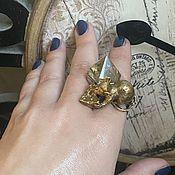 Винтаж handmade. Livemaster - original item The French Mouse Princess. Author`s ring.. Handmade.