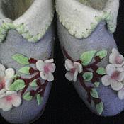 """Обувь ручной работы. Ярмарка Мастеров - ручная работа Домашние валеночки """" Яблоневый цвет""""  проданы.. Handmade."""