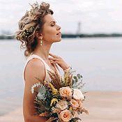 Свадебный салон handmade. Livemaster - original item Pearl earrings for bride. Handmade.