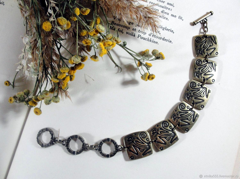 Bronze fire monkey bracelet, Chain bracelet, Belaya Cerkov,  Фото №1