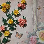 """Открытки ручной работы. Ярмарка Мастеров - ручная работа Открытка """"Куст роз"""". Handmade."""