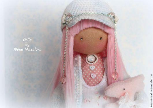 Коллекционные куклы ручной работы. Ярмарка Мастеров - ручная работа. Купить Текстильная кукла LISSY. Handmade. Голубой, кукла текстильная