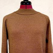 Одежда handmade. Livemaster - original item Brown Merino Raglan sleeve sweater. Handmade.