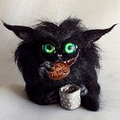 Куклы и игрушки ручной работы. Ярмарка Мастеров - ручная работа Чёрный и Пушистый. Handmade.