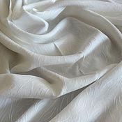 Материалы для творчества handmade. Livemaster - original item Italian rayon with embroidery on milk-colored fabric. Handmade.