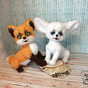 Куклы и игрушки handmade. Livemaster - original item Fennec Fox Friendship Bracelet. White Fox.. Handmade.