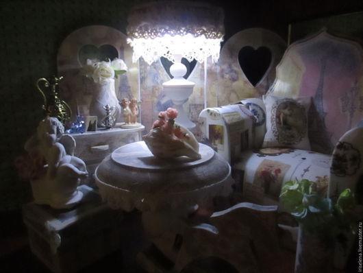 """Кукольный дом ручной работы. Ярмарка Мастеров - ручная работа. Купить Комната """" Изящная Роскошь"""" Для кукол от 14 до 27 см. Handmade."""