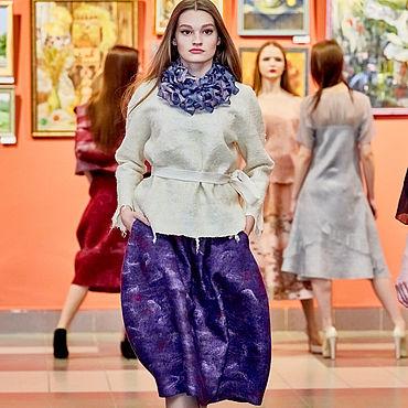 """Одежда ручной работы. Ярмарка Мастеров - ручная работа Валяная юбка """"Фиолетовый праздник"""". Handmade."""
