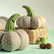 Комплекты аксессуаров для дома ручной работы. Ярмарка Мастеров - ручная работа Интерьерные тыквы Настроение Ретро горошек, бежевый, серый, оливковый. Handmade.