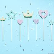 Топперы ручной работы. Ярмарка Мастеров - ручная работа Украшения торта (топперы). Набор 3 штучки.. Handmade.