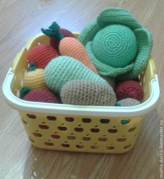 Еда ручной работы. Ярмарка Мастеров - ручная работа. Купить Овощи вязаные. Handmade. Разноцветный, вязаные крючком, развивающие игрушки