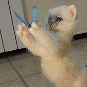 Куклы и игрушки handmade. Livemaster - original item felted kitty