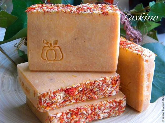 Мыло ручной работы. Ярмарка Мастеров - ручная работа. Купить Мыло ТЫКВЕННОЕ на соке АРБУЗА, натуральное мыло с нуля.. Handmade.