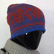 Аксессуары ручной работы. Ярмарка Мастеров - ручная работа шапка бини Красный медведь. Handmade.