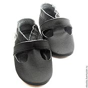 Работы для детей, handmade. Livemaster - original item Toddler Sandals, Black Shoes,Leather Baby Shoes, Toddler shoes. Handmade.