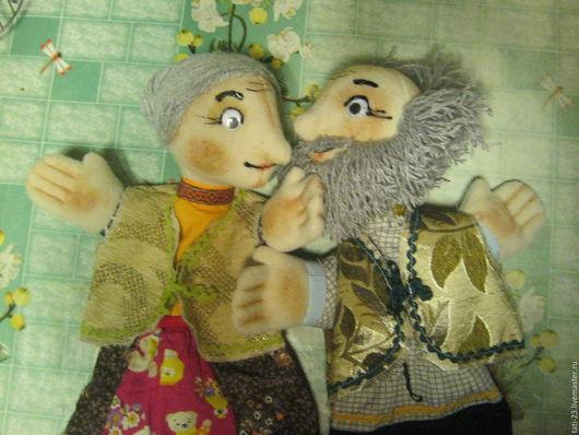 """Кукольный театр ручной работы. Ярмарка Мастеров - ручная работа. Купить Сказка """"Колобок"""". Комплект перчаточных кукол.. Handmade. Комбинированный"""