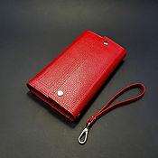 Сумки и аксессуары handmade. Livemaster - original item wallet womens leather. Large red floater wallet. Handmade.