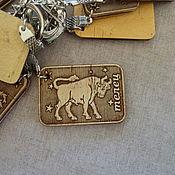 Аксессуары handmade. Livemaster - original item Keychain made of birch bark signs of the zodiac. Handmade.