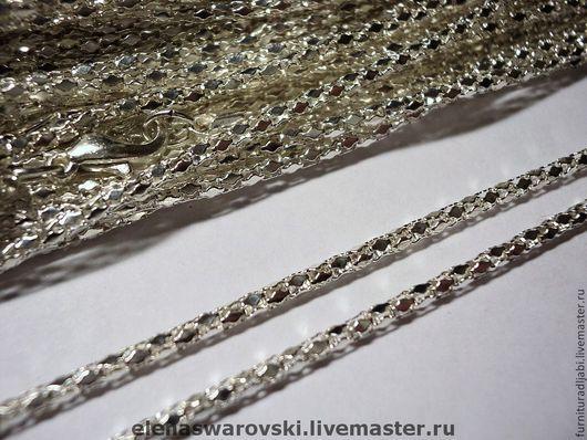 Для украшений ручной работы. Ярмарка Мастеров - ручная работа. Купить Цепочка (серебро и золото) змейка 53 см.. Handmade.