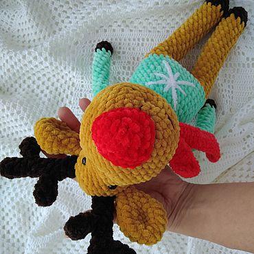 Куклы и игрушки. Ярмарка Мастеров - ручная работа Мягкие игрушки: Лось Яша. Handmade.