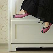 """Обувь ручной работы. Ярмарка Мастеров - ручная работа """"Фаленопсис"""" валяные тапочки-балетки.. Handmade."""