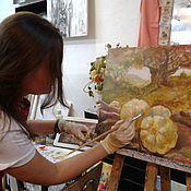 Картины и панно ручной работы. Ярмарка Мастеров - ручная работа Занятие по живописи. Handmade.