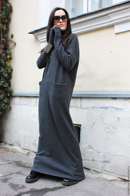f24cc6ef717 Длинное платье May Be – купить в интернет-магазине на Ярмарке ...