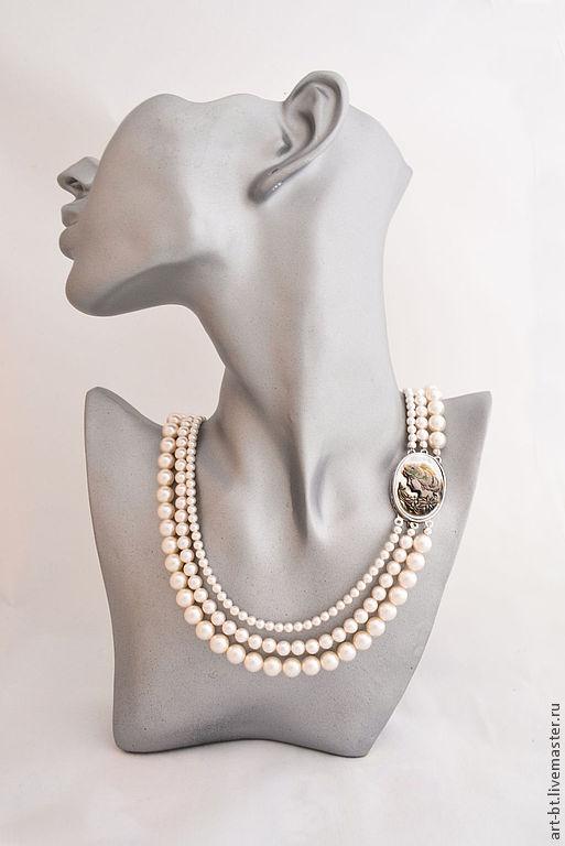 """Колье, бусы ручной работы. Ярмарка Мастеров - ручная работа. Купить Ожерелье """"Винтаж"""". Handmade. Жемчуг, украшение для невесты, подарок"""