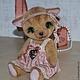 Мишки Тедди ручной работы. Кошечка Николь. Irene Gromi (Teddy Art Boutique). Ярмарка Мастеров. Кошки, кошка в платье