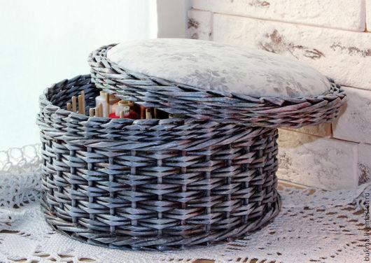 Шкатулки ручной работы. Ярмарка Мастеров - ручная работа. Купить Шкатулка для ниток Винтажные розы. Handmade. Серый, подарок женщине