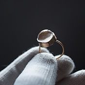 Украшения handmade. Livemaster - original item Crystal loop gold Ring. Handmade.