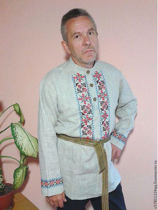 """Для мужчин, ручной работы. Ярмарка Мастеров - ручная работа. Купить Рубаха"""" Любимому Папочке"""". Handmade. Бежевый, ручная работа"""